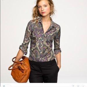 J.crew silk cotton blend shirt